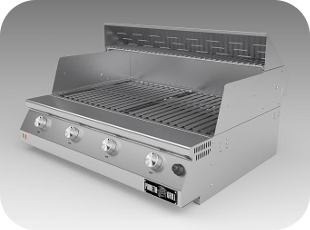 Pianeta Grill Fry Top 750 4f Cop Steel